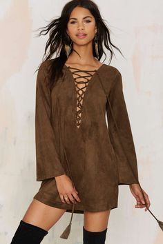 Thrill of the Lace Up Dress | Shop Clothes at Nasty Gal!