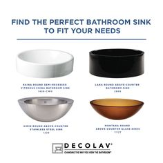 Which bathroom sink would you choose?