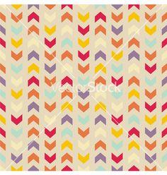 Aztec chevron seamless colorful pattern vector on VectorStock®