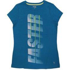 Danskin Now Girls' Active Graphic Tee, Size: 6/6X, Blue