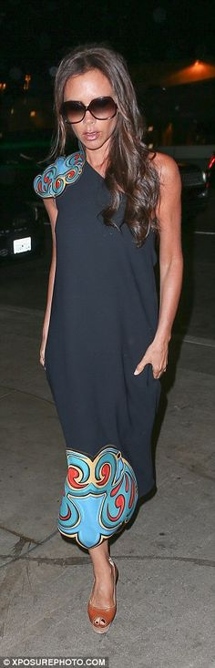 Ships passing in the night: Victoria and David Beckham were on different schedules on Satu...
