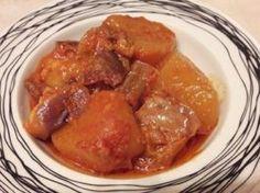 Μελιτζάνες με πατάτες γιαχνί(2 μονάδες) Pork, Diet, Chicken, Recipes, Kale Stir Fry, Recipies, Ripped Recipes, Pork Chops, Banting