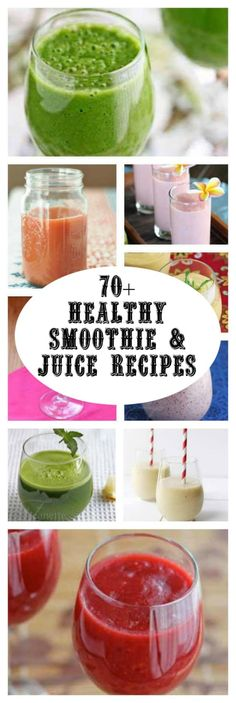 Healthy Smoothie and Juice Recipes for Cleansing and Detox - over 70 healthy smoothie and juice recipes to start the New Year off right! ~ http://jeanetteshealthyliving.com