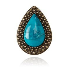 SAMANTHA WILLS - BOHEMIAN BARDOT RING - COBALT