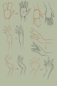How to draw hand, basic drawing tutorial. Basic Drawing, Drawing Tips, Painting & Drawing, Drawing Hands, Drawing Ideas, Anime Drawing Tutorials, Basics Of Drawing, Drawing Classes, Dream Drawing