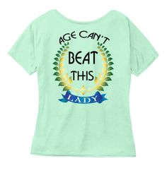 Evergreen Grandmom  Mint  T-Shirt Back