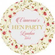 Vintage Style Personalised Hen Party Gift Bag