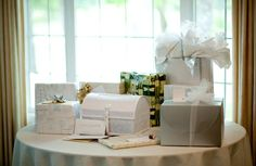 What is the wedding gift etiquette when you're the one receiving the gifts? Returning your wedding gifts can be a difficult decision to make. Gift Table Wedding, Wedding Gifts For Groom, Best Wedding Gifts, Wedding Reception, Reception Ideas, Wedding To Do List, Plan Your Wedding, Wedding Planning, Outdoor Dining Set
