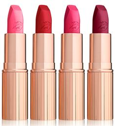 Charlotte Tilbury Hot Lips Collection Fall 2016 | Bosworth's Beauty, Carina's Love, Electric Poppy, Hel's Bells