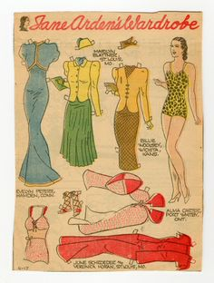 78.2364: Jane Arden's Wardrobe | paper doll | Paper Dolls | Dolls | Online Collections | The Strong