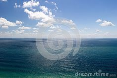Azure Sea Water Under Blue Cloudy Sky - Download From Over 47 Million High…