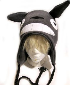 Totoro Fleece Hat by ShinyRebellion on Etsy