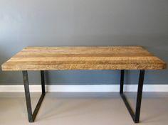 Reclaimed Wood Dining Table White Oak Steel Legs