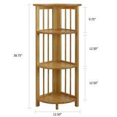"38"" Corner Unit Bookcase"