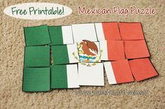 Printable Puzzle: Mexican Flag from LearnCreateLove.com