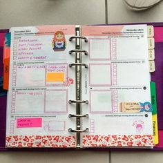 matryoshka doll washi tape and red planner page theme from last week | lyn @plannerbug Instagram photos | Webstagram