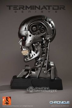 Terminator Genisys Endoskeleton Skull 1/1 Réplique Buste 39cm Toynami