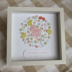 Baby girl shadow box $35 customised (+ postage Australia wide only)  Just Spiffing - Fiona Bradley - Stampin Up