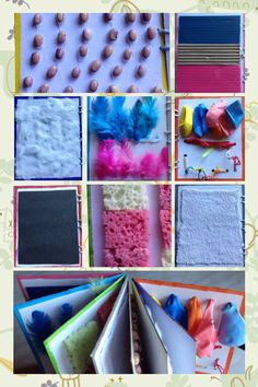 Libro de texturas - estimulación temprana - Baby Sensory Classes, Baby Sensory Board, Sensory Wall, Sensory Book, Sensory Boards, Senses Activities, Infant Activities, Preschool Activities, Baby Quiet Book