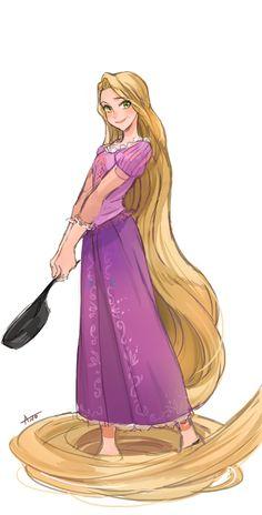 Rapunzel in Anime style Disney Pixar, Disney Films, Disney And Dreamworks, Disney Animation, Walt Disney, Disney Couples, Rapunzel Flynn, Rapunzel And Eugene, Disney Rapunzel
