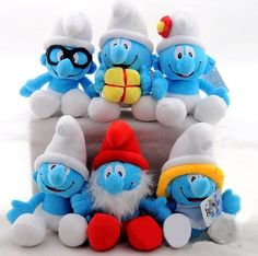 Stuffed Smurfs Plush Smurf Toys Doll Kids Toys 28CM Free Shipping on TradeTang.com