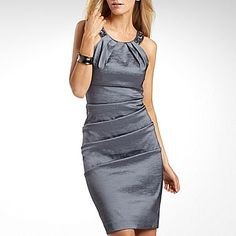 S.L. Fashions Ruched Dress with Beaded Neck - jcpenney 70$ or this one for the wedding?