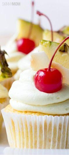 Skinny Pina Colada Cupcakes