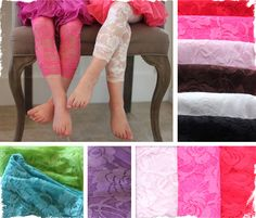$5.99 Anniversary Deal! Adorable Lace Leggings - 9 Beautiful Colors - Fit sizes 12 mo.-6 years  at VeryJane.com
