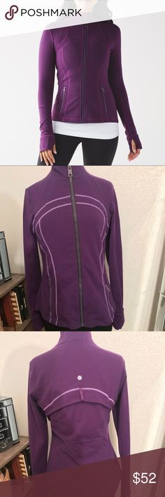 Lululemon Define Jacket in Purple So cute!! Lululemon define Jacket in purple with an accent color trim lululemon athletica Jackets & Coats