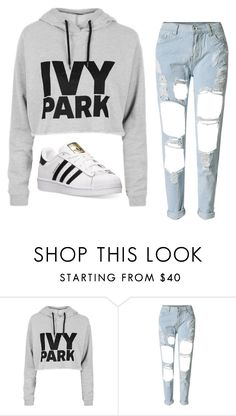 """""""Untitled #784"""" by ariannastradlin ❤ liked on Polyvore featuring Ivy Park, WithChic and adidas"""