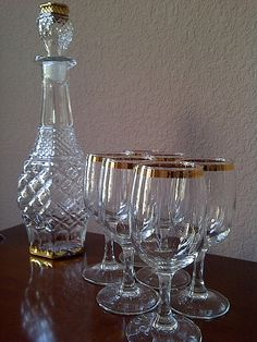 Vintage Cronzini Fine Crystal Wine Decanter with by maggiecastillo, $85.00