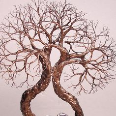 Wire Tree Of Life Soul Mate Spirits sculpture by CrowsFeathers, $143.00