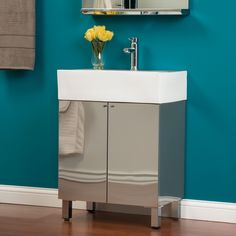 "24"" Showcase Series Stainless Steel Vanity"