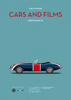 Poster of the car from Austin Powers. Illustration Jesús Prudencio. Cars And Films