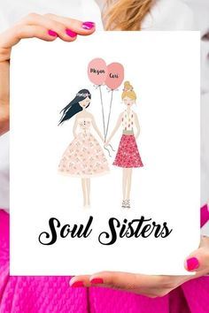 Best Friend Print - $9 - Your friend will be delighted after opening up this gift, which you can personalize to look like the two of you ... right down to your hair color and style. See more great gifts for your best friend at HouseBeautiful.com.