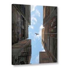 """ArtWall Cynthia Decker 'Afternoon Alley' by Cynthia Decker Wall Art on Canvas Size: 32"""" H 24"""" W"""