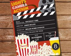 Movie Party Invitation - Movie Ticket Invitation - Instant Download and Editable File - Personalize at home with Adobe Reader