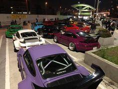 RWB at Tarumi parking Tuner Cars, Jdm Cars, Rauh Welt, Japanese Landscape, Street Racing, Dream Garage, Porsche 911, Appreciation, Community