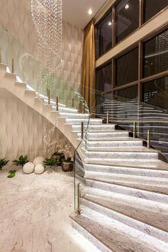 Home Stairs Design, Home Design Floor Plans, Dream Home Design, Modern House Design, Interior Stair Railing, Dream House Interior, Modern Mansion, Front Door Design, Modern Staircase