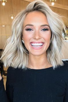 20 Short Blonde Hairstyles to Bring Straight to the Salon 20 Short Blonde Hairstyles to Bring Straight to the Salon,Big Southern Hair From fringed bobs to blunt lobs to textured crops, these short haircuts. Medium Hair Styles, Curly Hair Styles, Medium Blond Hair, Short Blond Hair, Blonde Hair Long Bob, Blunt Blonde Bob, Blonde Bob With Fringe, Bright Blonde Hair, Medium Length Blonde