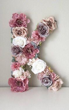 Boho Flower Letter, Boho Chic Nursery Art, Flower Number, Flower Initial, Floral Initial - New Deko Sites Nursery Art, Nursery Decor, Chic Nursery, Girl Nursery, Decor Room, Baby Decor, Nursery Ideas, Girl Room, Flower Letters