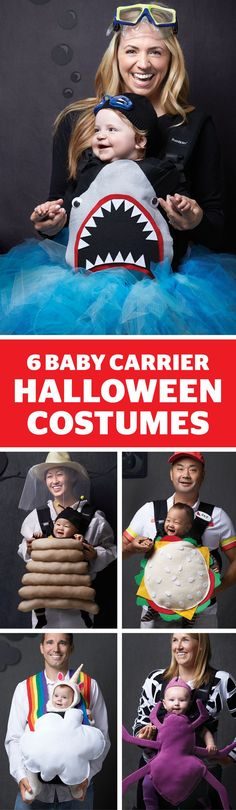 These no-sew costumes for parents and babes are so cute. Bonus: Many can be altered to work for toddlers! #Halloween