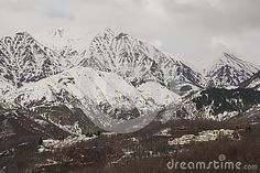 A view of Italian alps village. #Italy #alps #Alpine #Mountain #Winter #Snow #Holidays #Travel #Tourism #Weather
