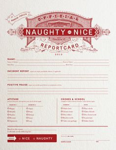 Harry Canary Co Santa Report Card – Free Printable