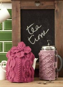 Knitted tea cosy and coffee cosy from Woman's Weekly Knitting & Crochet Special January 2012