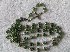 green rosary by HeavenlybyHelda on Etsy, $25.00
