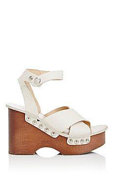 Hester Leather Clog Sandals