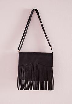 Missguided - Long Tassel Detail Shoulder Bag Black
