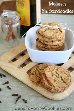 Molasses Snickerdoodles from Jen's Favorite Cookies