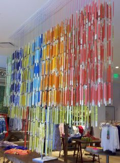 Anthropologie display - paint stirrers as art